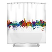 Newcastle England Skyline Custom Panoramic Shower Curtain