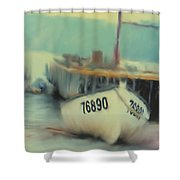 Newfoundland Fishing Port Impressions Shower Curtain