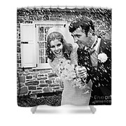 Newlyweds Showered With Rice, C.1960-70s Shower Curtain