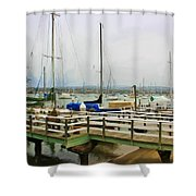 Newport Bay And Balboa Island Shower Curtain