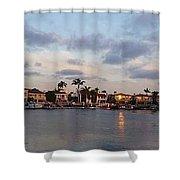 Newport Beach Bay Shower Curtain