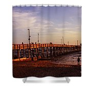 Newport Beach Glow Shower Curtain