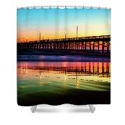 Newport Beach Pier At Sunrise Shower Curtain