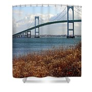 Newport Bridge Newport Rhode Island Shower Curtain