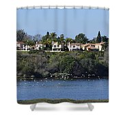 Newport Estuary Looking Across At Homes I Shower Curtain
