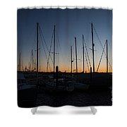 Newport Harbor Rhode Island Boats At Sunset Shower Curtain