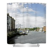 Newport Harbour Iow Shower Curtain