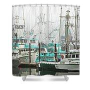Newport, Oregon Fishing Fleet Shower Curtain
