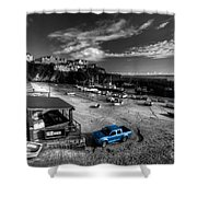 Newquay Harbour  Pickup  Shower Curtain