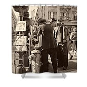 News Of The Attack On Pearl Harbor - San Francisco 8 Dec 1941 Shower Curtain