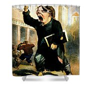 Newsboy Shouting, 1847 Shower Curtain