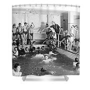 Newsboys Swimming 1900s Shower Curtain