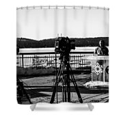 Newscasters Shower Curtain