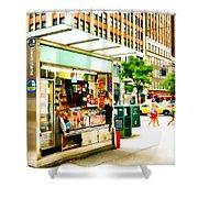 Newsstand Shower Curtain