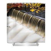 Newton Upper Falls Autumn Waterfall Shower Curtain