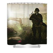 Next Day Survival Shower Curtain