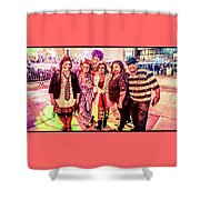 Zombie Gang Of Six Shower Curtain