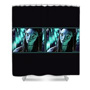 Neytiri - Gently Cross Your Eyes And Focus On The Middle Image Shower Curtain
