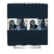 Neytiri And Jake - Gently Cross Your Eyes And Focus On The Middle Image Shower Curtain