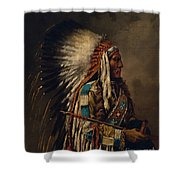 Nez Perce Chief Shower Curtain by Edgar S Paxson