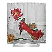Nfl 49ers Stiletto Shower Curtain
