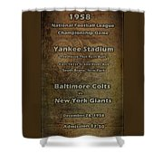 Nfl Championship Game 1958 Shower Curtain