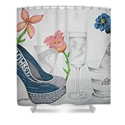 Nfl Cowboys Stiletto Shower Curtain