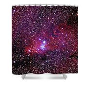 Ngc 2264 The Christmas Tree Cluster In Monoceros Shower Curtain