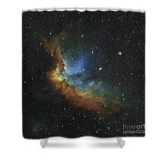 Ngc 7380 In Hubble-palette Colors Shower Curtain by Rolf Geissinger