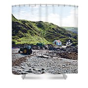 Niabyl Tractor Shower Curtain
