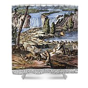 Niagara Falls: Beavers, 1715 Shower Curtain