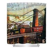 Niagara Falls Bridge, 1876 Shower Curtain by Granger