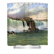 Niagara Falls, C1840 Shower Curtain