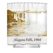 Niagara Falls Ferry Boat, 1904, Vintage Photograph Shower Curtain