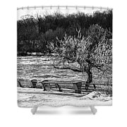Niagara Falls Ice 4514 Shower Curtain