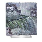 Niagara Falls In Winter  Shower Curtain