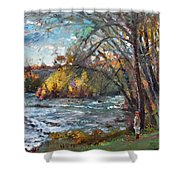Niagara Falls Lake Shower Curtain