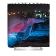 Niagara Falls Light Show Shower Curtain