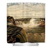 Niagara Falls With Rainbow, 1860 Shower Curtain