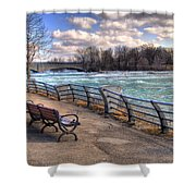 Niagara Rapids In Early Spring Shower Curtain