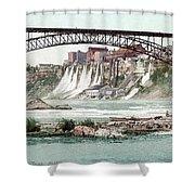 Niagara River, C1900.  Shower Curtain by Granger