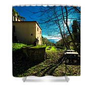 Niasca Hermitage I Portofino Park Passeggiate A Levante Shower Curtain