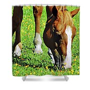 Nibbling On Flowers Shower Curtain