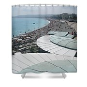 Nice By The Sea. Shower Curtain