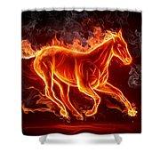 Nice Horse 3d Shower Curtain
