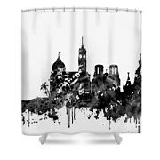 Nice Skyline-black Shower Curtain
