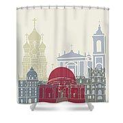 Nice Skyline Poster Shower Curtain