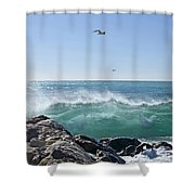 Nice Wave Shower Curtain