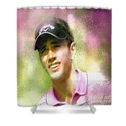 Nick Dougherty In The Golf Trophee Hassan II In Morocco Shower Curtain
