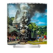 Nickle Plate Road 765 At Jim Thorpe Shower Curtain